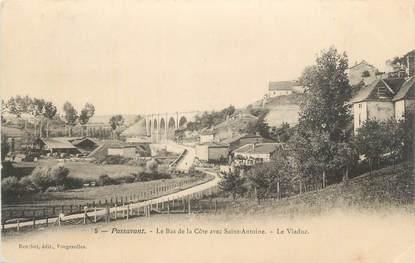 """CPA FRANCE 70 """"Passavant, Le bas de la côte avec St Antoine, le viaduc""""."""