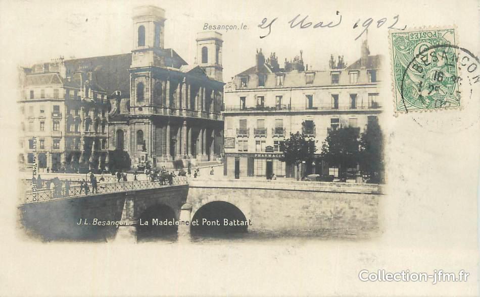 Cpa france 25 besan on la madeleine et le pont battant for 25 besancon