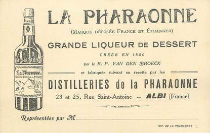 """CPA FRANCE 81 """" Albi, Publicité sur la Distillerie de la Pharaonne""""."""