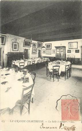 """CPA FRANCE 38 """" Chartreuse, La Grande Chartreuse, La salle à manger""""."""