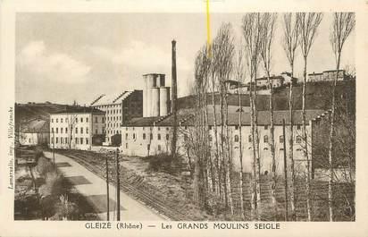 """CPA FRANCE 69 """" Gleizé, Les Grands Moulins Seigle""""."""