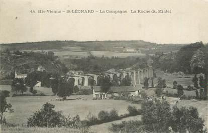 """CPA FRANCE 87 """" St Léonard, La Campagne, la roche du Mialet""""."""