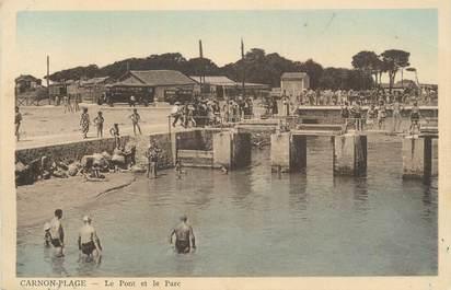 """CPA FRANCE 34 """" Carnon Plage, Le pont et le parc""""."""