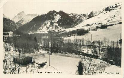 "CPSM FRANCE 74 "" Les Contamines, La patinoire""."