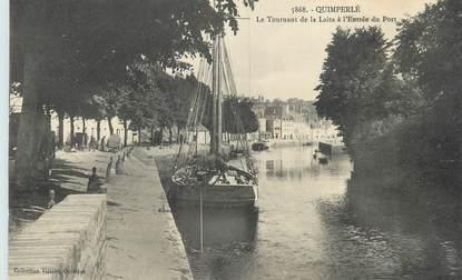 """CPA FRANCE 29 """"Quimperlé, Le tournant de la Laita à l'entrée du port""""."""