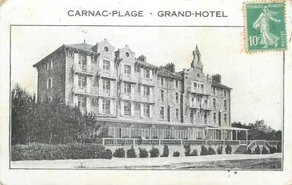 "CPA FRANCE 56 "" Carnac Plage, Grand Hôtel"""