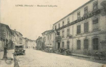 "CPA FRANCE 34 "" Lunel, Boulevard Lafayette""."