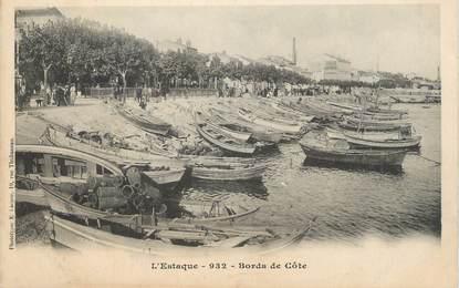 "CPA FRANCE 13 "" Marseille, L'Estaque, Bords de la Côte""."