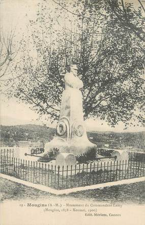 """CPA FRANCE 06 """"Mougins, Le monument du Commandant Lamy""""."""