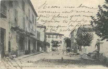"""CPA FRANCE 06 """" Roquesteron Puget, La Place Carnot""""."""
