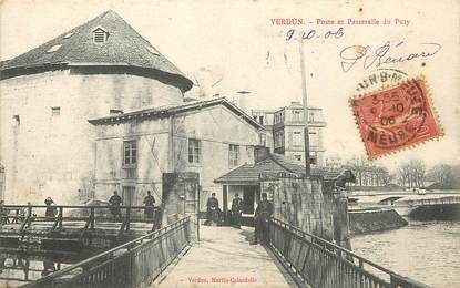 """CPA FRANCE 55 """"Verdun, Poste et Passerelle du Puty"""""""