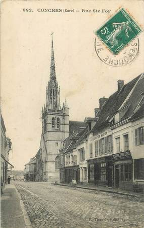 """CPA FRANCE 27 """" Conches, Rue Ste Foy""""."""
