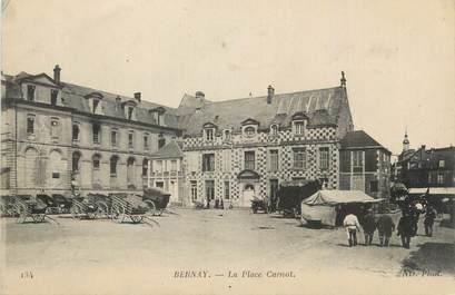 "CPA FRANCE 27 "" Bernay, La place Carnot""."