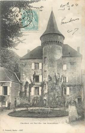 """CPA FRANCE 24 """" Sarlat, Le château de Pelvézi""""."""