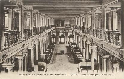 """CPA FRANCE 06 """" Nice, Banque Nationale de Crédit, vue partielle du hall""""."""