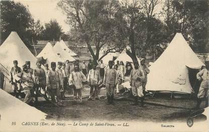 """CPA FRANCE 06 """"Cagnes, Le camp de St Véran""""."""