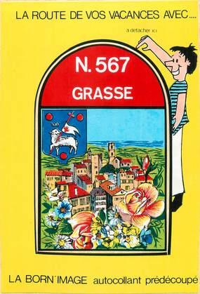 """CPM FRANCE 06 """" Grasse, Vue"""". / AUTOCOLLANT"""