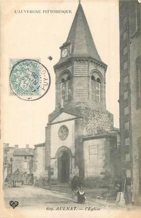 """CPA FRANCE 63 """"Aulnat, L'église""""."""