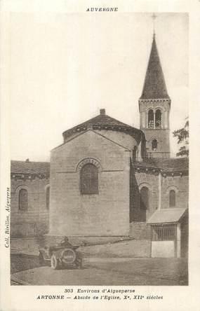 """CPA FRANCE 63 """"Artonne, Abside de l'église""""."""