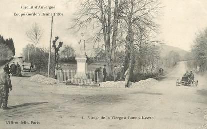 """CPA FRANCE 63 """" Bourg Lastic, Virage de la vierge""""."""