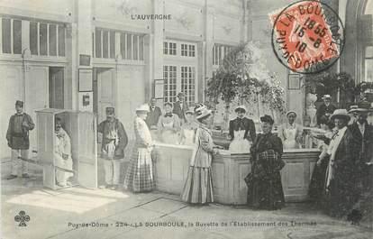"""CPA FRANCE 63 """" La Bourboule, La buvette de l'établissement des thermes""""."""