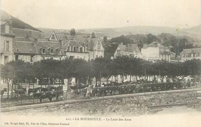 """CPA FRANCE 63 """" La Bourboule, La loue des ânes""""."""