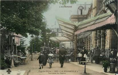 """CPSM FRANCE 63 """" La Bourboule, Terrasse du casino""""."""