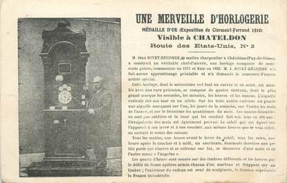 """CPA FRANCE 63 """"Chateldon, Une merveille d'horlogerie""""."""
