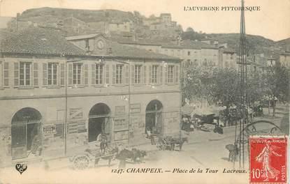 """CPA FRANCE 63 """"Champeix, Place de la Tout Lacroux""""."""