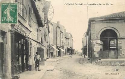 "CPA FRANCE 63 ""Combronde, Quartier de la halle""."