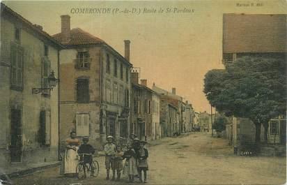 """CPA FRANCE 63 """" Combronde, Route de St Perdoux""""."""