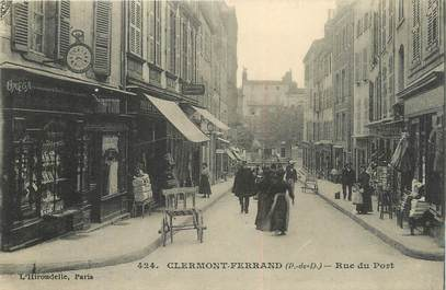 "CPA FRANCE 63 "" Clermont Ferrand, Rue du Port""."
