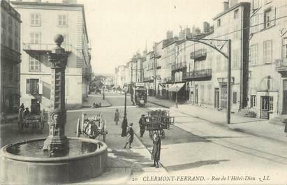"""CPA FRANCE 63 """" Clermont Ferrand, Rue de l'Hôtel Dieu""""."""
