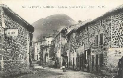 """CPA FRANCE 63 """" La Font de l'Arbre, Route de Royat""""."""