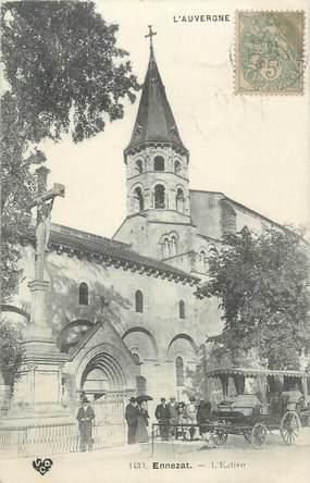 "CPA FRANCE 63 "" Ennezat, L'église""."