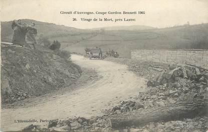"""CPA FRANCE 63 """" Lastic, Le virage de la mort, Coupe Gordon Bennet 1905'."""