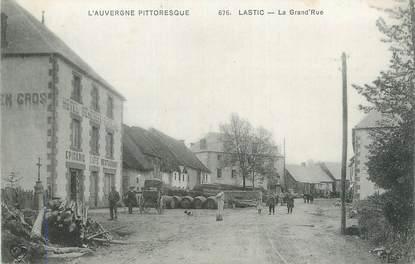 """CPA FRANCE 63 """" Lastic, La grande rue""""."""