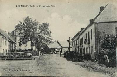 """CPA FRANCE 63 """" Lastic, Principale rue""""."""