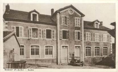 """CPA FRANCE 63 """"Marat, Les écoles""""."""