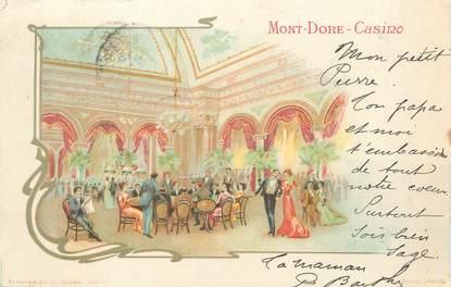 """CPA FRANCE 63 """" Le Mont Doré, Le casino""""."""