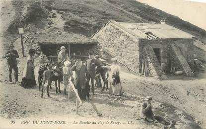 """CPA FRANCE 63 """" Environs du Mont Doré, La buvette du pied de Sancy""""."""