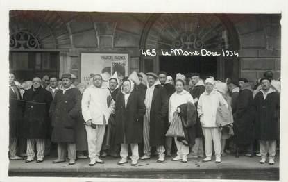 """CARTE PHOTO FRANCE 63 """" Le Mont Doré 1934""""."""
