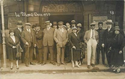 """CARTE PHOTO FRANCE 63 """" Le Mont Doré 1927""""."""