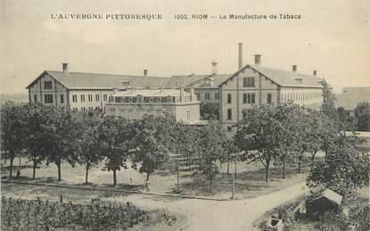 "CPA FRANCE 63 "" Riom, La manufacture de tabacs""."