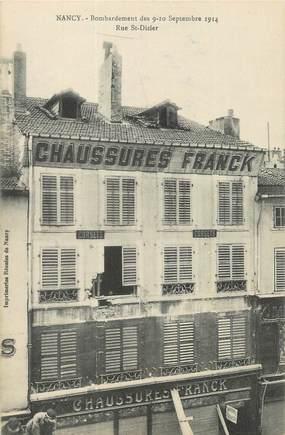 """CPA FRANCE 54 """" Nancy, Bombardement de septembre 1914, rue St Dizier"""". / JUDAICA"""