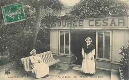 """CPA FRANCE 63 """"Royat, Source César""""."""