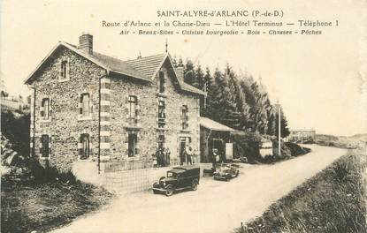"CPA FRANCE 63 "" St Alyre d'Arlanc, L'Hôtel Terminus""."