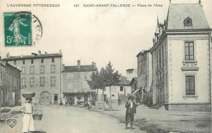 """CPA FRANCE 63 """" St St Amant Tallende, Place de l'Aise""""."""