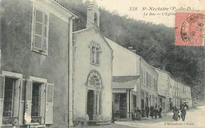 """CPA FRANCE 63 """" St Nectaire, L'église""""."""