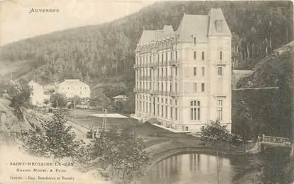 """CPA FRANCE 63 """" St Nectaire le Bas, Grand Hôtel et parc""""."""